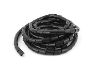 Cable Wire Tidy Wrap PC Home Cinema TV Management 14mm Dia 4.5m Spiral Wrap