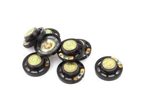 8Pcs 0.25W 8 Ohm 29mm Dia External Magnet Loudspeaker Speaker Horn Black