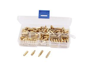 150 Pcs 3 Sizes Screw Threaded Brass Hexagon Standoff Spacer for PCB Motherboard