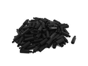 50pcs M4 Male x Female 18mm+6mm Nylon Spacer Hex Standoff Pillar for Motherboard