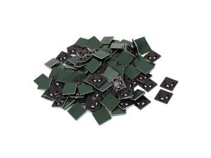 200pcs 21mmx21mm Square Self-Adhesive Cable Tie Mount Bases for 5mm Zip Tie