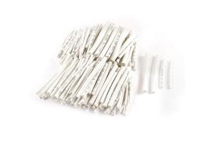 200 Pcs 4 Sizes Polyolefin Heat Shrink Tubing Cable Sleeve White