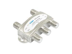 CATV Cable TV Antenna RF Signal Coaxial Splitter 4-Way Silver Tone