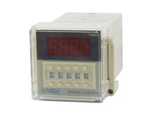 DH48S-2Z LCD Display Time Timer Delay Relay 8-Pin DPDT 0.01S-9999H AC 110V