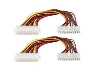 ATX 20-Pin Female to 24 Pin Male Motherboard Power Cable Adapter 2pcs