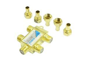 Television 4 Way Coaxial F Connector CATV Directional Splitter