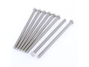 M6 x 110mm Metric 304 Stainless Steel Fully Threaded Hex Head Screw Bolt 8 Pcs