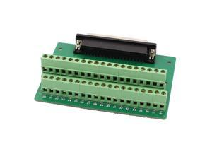 DB37 D-SUB Female Adapter to 37 Pin Terminal Dual Row Screw Breakout Board