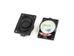 2Pcs 40x28x12mm External Magnet Speaker Loudspeaker Horn 8 Ohm 2W