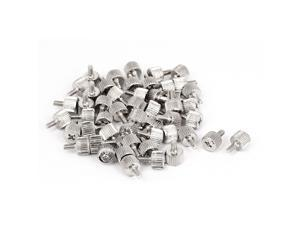 50pcs M3x6mm Male Thread Straight Knurled Computer Desktop PC Case Thumb Screws