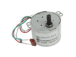 100RPM Output Speed AC 220V 0.2A 6W Rated Voltage Gear Box Motor