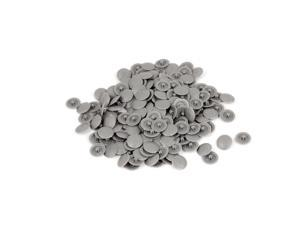 12mm Dia Gray Plastic Round Caps Furniture Press Fit Bolts Screws Cover 200Pcs