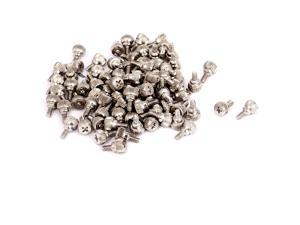100pcs M3.5x6mm Male Thread Nickel Plated Computer Desktop PC Case Thumb Screws