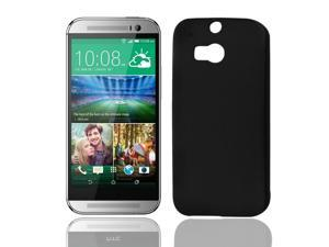 Phone Protector Hard Bumper Back Case Cover Black for HTC One M8