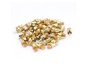 RCA Audio Video Male Plug Adapter Soldering Connector Gold Tone 50PCS