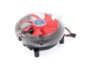 Green Plastic 7-Blade Silver Tone Aluminum CPU Heatsink Cooler Fan for Intel AMD