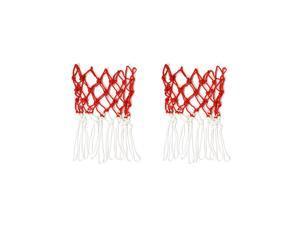 Nylon Net Mesh Bag White Red Basketball Volleyball Soccer Carrier
