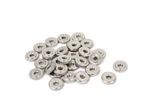 30 Pcs M4 Thin Type Round Knurled Thumb Nuts DIN 467