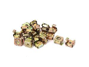 20 Pcs M4 x 0.7mm Pitch Carbon Steel Square Cage Nuts for Sever Rack Cabinet