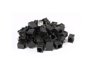 50 x PCB Mount 6P6C RJ11 Socket Modular Jack Telephone Cable Connector