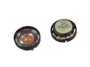 "0.8"" Diameter Round Slim External Magnet Speaker Horn 8 Ohm 0.25W 2 Pieces"