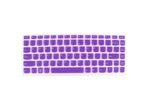 Unique Bargains Laptop Keyboard Protector Film Purple Clear for Lenovo S405/U400/U410/YOGA 13