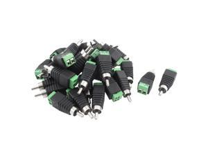 30pcs UTP Cat5 Cat6 Cable to AV Phono RCA Male Jack Plug Adapter for CCTV