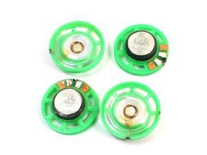 4Pcs 29mm External Magnetic Type Green Shell Speaker Amplifier 16 Ohm 0.25W