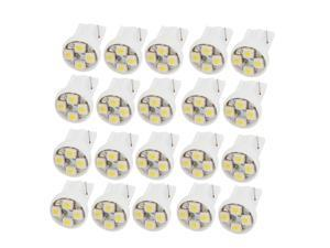Unique Bargains T10 158 168 194 White 1210 3528 SMD 4 LEDs Turn Signal Light Bulb Lamp 20 Pcs