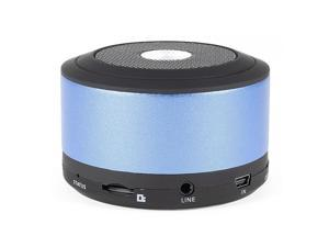 Unique Bargains HiFi TF Card MP3 Player Mini bluetooth Speaker Blue w USB Cable