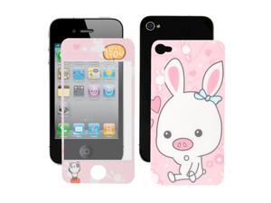 Pig Print Dust Protective Front Back Cover Film Assembly for iPhone 4 4G 4S 4GS
