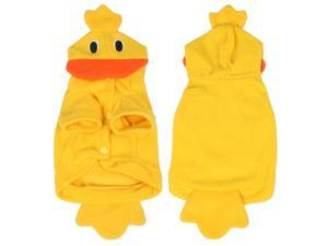 Halloween Costume Duck Yellow Fleece Puppy Dog Clothes Coat Apparel Size M