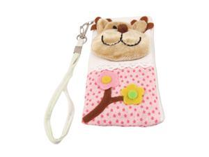 Protective Dot Pattern L Shape Zip Up Pouch Bag Holder for iPhone 4 4G 4S
