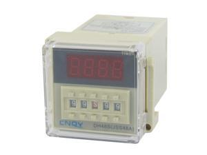 AC 110V DPDT 8P 0.01S-99H99M 4-Digit Programmable Timer Delay Relay DH48S-2Z