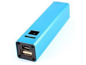 DC 5V 1.2A Teal Aluminum USB Power Bank 18650 Battery Charger DIY Box