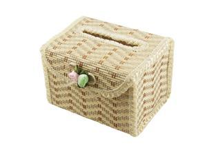 Lace Edged Bamboo Tissue Ornament Cover Paper Holder Box