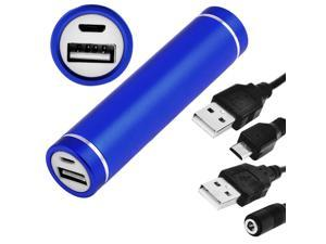 Blue 1800mAh Mobile Alloy Portable Power Bank for Type A USB Phone Mp3