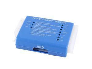 Computer ITX ATX BTX SATA PSU Connector Power Supply Tester 20/24 Pin Blue