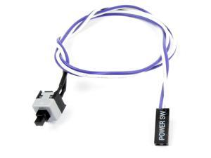 "20"" 2 Pin Connector Momentary Power SW Button Switch Cable for PC Computer"