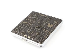 Portable Faux Leather Cigarette Case w 20Pcs Capacity Bronze Tone Silver Tone