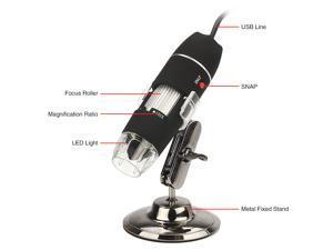50-500X 2MP USB 8 LED Light Mini Digital Microscope Endoscope Camera Magnifier