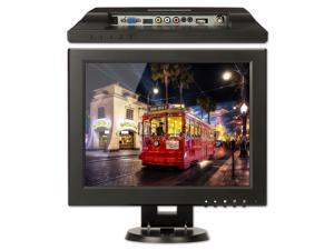 "SOTER SECURITY® 12"" inch TFT LCD Portable Mini Monitor HDMI BNC VGA AV Video 800*600 4:3 / 16:9 Color Screen for PC CCTV Security Camera DVR"