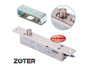 ZOTER Electric Drop Bolt  Deadbolt Strike Timer Lock Fail Secure NO Mode 12V 24V For Door Entry Access Control System