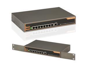 8-Port 10/100 Mbps Ethernet Network PoE Switch Hub PnP for IP CCTV Camera