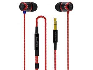 SoundMAGIC E10 Noise Isolating In-Ear Earphones (Black/Red)