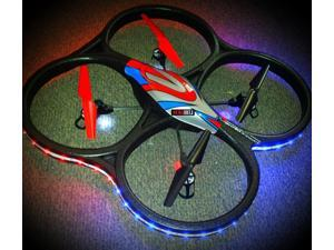Night Flight WLToys V262 Cyclone UFO 4 Channel 6 Axis Gyro Quadcopter 2.4Ghz RTF (Color may Vary) with LED light