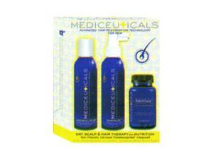 Mediceuticals Men's 3-Step System for Dry Hair & Scalp with Nutrition 3 pc Kit