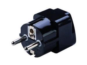 Lewis N. Clark Grounded Adapter Plug, Schuko For Outlets in Europe & Asia #VG12
