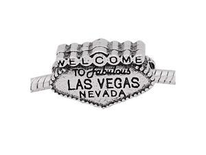 Antique Silver Pandora Style Welcome to Las Vegas Charm Bead
