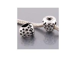 Antique Silver Pandora Style Strawberry Charm Bead